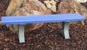 Banquette de jardin en plastique recyclé 200 cm - Longueur : 200 cm