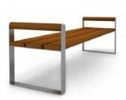 Banquette en acier et en bois - Finition inox ou galvanisée verni