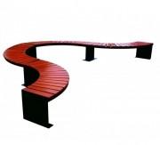 Banquette modulaire banc public - Tubes carrés en acier de dimension 40 x 40 mm
