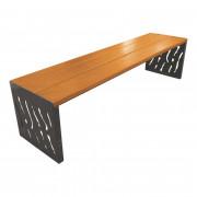 Banquette publique acier et bois - Longueur : 1800 mm