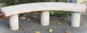 Banquette publique béton 3 pieds - Longueur : 1m50 - 2 versions disponibles