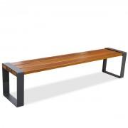 Banquette publique en bois exotique - Modèle : sans dossier