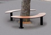 Banquette tour d'arbre 1600 x 600 - Encombrement (mm ) : 1600 x 600