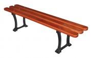 Banquette urbaine en bois exotique - Longueur : 1800 mm - Bois exotique - A sceller