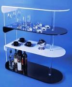 Bar plexi bi color - Dimensions : L x l : 92 x 40 cm - Hauteur : 104 cm