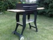 Barbecue a charbon de jardin - Ventilation manuelle a 2 vitesses