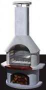 Barbecue à cheminée - Dimensions (H x L x P) : 206 x 110 x 65 cm