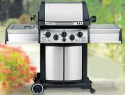 Barbecue acier à gaz - Brûleur principal : 14.4 kW - Brûleur latéral : 2,7 kW