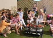Barbecue brasero au feu roulant - Dimensions de la Grille :  57,5 x 39,5 cm et 87 x 48 cm