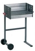 Barbecue de jardin en acier - Dimensions (L x l) : 50 x 32 cm