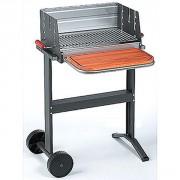 Barbecue mobile professionnel de jardin - Dimensions (L x l) : 50 x 32 cm
