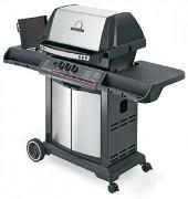 Barbecue professionnel 2 brûleurs - Surface de cuisson principale (L x l ) : 62 x 38 cm