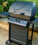 Barbecue professionnel à gaz d'extérieur - Surface grille de cuisson principale : 54 x 37 cm