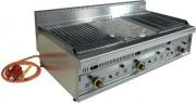 Barbecue professionnel à gaz en acier - Dimensions (LxPxH) mm :  1270 x 650 x 320
