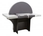 Barbecue professionnel avec couvercle - Dimensions (LxPxH) mm : 1260 x 610 x 910