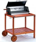 Barbecue professionnel de jardin - Dimensions (L x l) : 62 x 32 cm