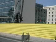 Bardage de chantier horizontal - Bardage CISA40 en pose horizontale