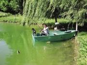 Barque pour rivière et plan d'eau - Barque en polyéthylène - Deux tailles d'avirons : 1,80 et 2,20 m.