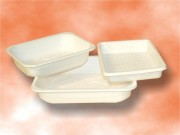 Barquette alimentaire auto-absorbante - Forme carré à avec plusieurs choix de fonds