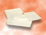 Barquette alimentaire plats cuisinés - Pack de trois à forme carré - PVC