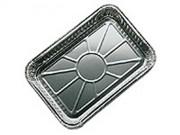 Barquette jetable en aluminium pour barbebue - Dimension (L x l) : 22 x 33 cm