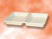 Barquette plastique carré alimentaire auto-absorbante - Pack de deux barquettes et formes carrés