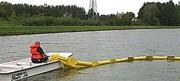 Barrage à flotteur cylindrique - En  PVC renforcé - De confinement antipollution