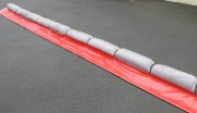 Barrage absorbant en liège - Anti pollution - Longueur : 6 m - Capacité d'absorption : 144 L