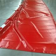 Barrage avec jupe PVC pour déchets et débris flottants - Longueur : 25 mètres - Hauteur totale : 120 cm