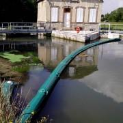 Barrage de confinement d'objets flottants - Longueur : 25 mètres - Hauteur totale : 100 cm