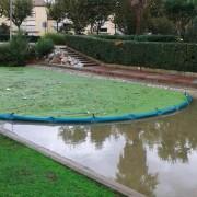 Barrage de confinement pour déchets ou débris flottants divers - Longueur : 25 mètres - Hauteur totale : 70 cm