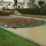 Barrage pour déchets bois flottants - Longueur : 15 mètres - Hauteur totale 80 cm