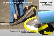 Barrage souple antipollution - Dimensions (L x l x h) : 3000 x 100 x 70 ou 2000 x 50 x 60 mm