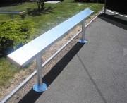 Barre assis debout métallique - Hauteur : 0.45 m - Longueur : 3 m ou 4 m