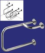 Barre de maintien pour toilette - Dimensions : (l x H) : 51,5 x 31,5 cm