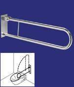 Barre de maintien rabattable - Dimensions : (l x H) :  84 x 20 cm