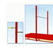 Barre fixe de gymnastique scolaire - Réglage en hauteur de 0m95 à 2m55