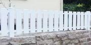 Barreaudage PVC blanc ajouré - Barreaux : lames 120 x 28 mm