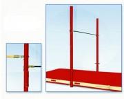Barres gymnastique fixes scolaires - 1, 2 ou 3 places - Réglable en hauteur