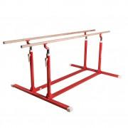 Barres parallèles de gym avec pieds fixes - Encombrement au sol (m) : 2.50 x 2