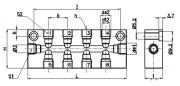 Barrette de connexion bi latérales DIN 2367 - Ref.DB664