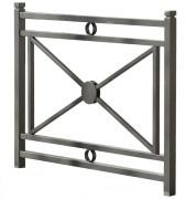 Barrière avec poteaux carrés - Longueurs (m) : 0.93 - 1.43 - 1.93