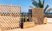 Barrière bois Hauteur 1.00 m - Panneaux-claustras