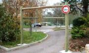 Barrière bois Hauteur 2.30 m - Gabarit véhicules