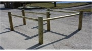 Barrière bois passage sélectif - Passage de 95 cm ou 1.45 m - 6 ou 8 poteaux d'un 1m50