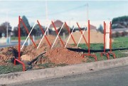 Barrière de chantier extensible 3 m - Hauteur : 1000 mm
