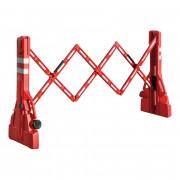 Barrière de chantier extensible plastique - Hauteur (mm) : 1100