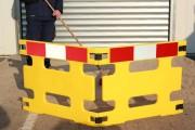 Barrière de chantier pliable - Polyéthylène - Barrière 2 ou 3 pièces