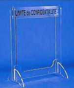 Barrière de confidentialité plexi - Dimensions (l x Ht) : 75 x 103 cm