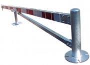 Barrière de fermeture de voies - Acier galvanisé - Long jusqu'à 16 mètres (2 x 8 mètres)
